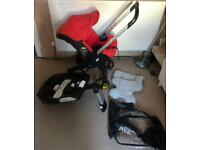 Doona Car Seat Stroller / Pushchair With Isofix Base & Extras VGC
