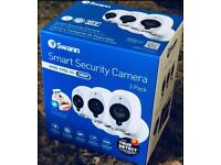 Swann Smart Security Cameras, 3 Pack: 3 x 1080p Full HD Wireless Security Cameras with Night Vision