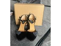 Joe Browns Black Velvet and Glitter Shoes