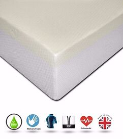 """NEW ORTHOPAEDIC 12"""" MATTRESS WITH A REMOVABLE MAXI COOL ZIP COVER"""