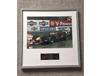 Signed Limited Addition David Coulthard Print