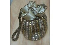 Special Occasion Golden Lady's Handbag - NEW