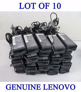 Lot of 10 x Genuine Original Lenovo 20V 4.5A 90W Adapters Chargers (2007-2013 models)