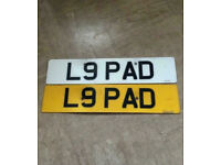 Private Number Plate For Sale L9 PAD Sensible Offer Invited No Silly Offer