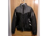 Mens Energie Shiny Black/Grey Bomber Jacket in new condition