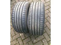 3 x Michelin pilot sport 4 tyres 245/40 ZR 18