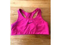 NIKE pink sports bra size XL