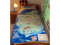 Marks and Spencer's Boy's Bedroom Curtains, Duvet Cover and Pillowcase Set, Cushion, Single Duvet