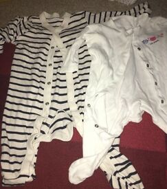 2x baby sleep suits 3-6 months
