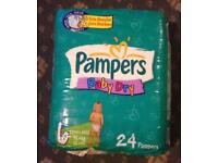 Pampers Baby Dry Nappies size 6 extra large