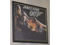 James Bond 007 poster in frame - The World Is Not Enough - Pierce Brosnan