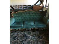 French Louis Style Sofa and 2 Armchairs