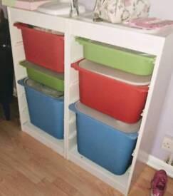 Trofast storage x 2 with lids