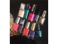 Bundle of nail polishes (revlon, Max Factor, L'Oréal etc). Brand new £30