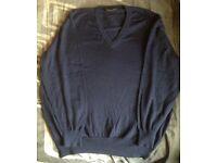 "Christian Dior Monsieur mans v-neck jumper , size medium 38-40"" , used but as good as new"