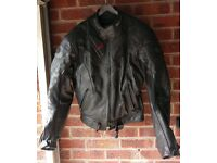 Buffalo leather motorcycle jacket