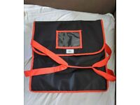 """Pizza Delivery Bag Fully Insulated Professional Quality Heavy Duty 18"""" 18"""" 8.5"""""""