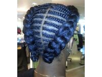 Cornrows (without extensions), Flat twists (without extensions), Crochet braids (installation)