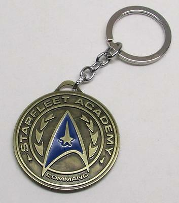 STAR TREK Starfleet Acadamy Pendant Shield Metal KEY CHAIN Ring Keychain NEW