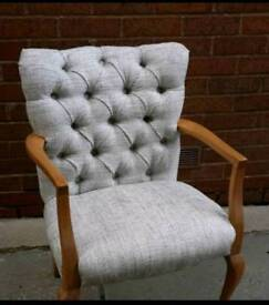 Buttoned chair for sale