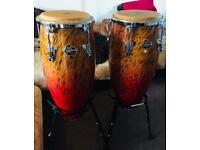 Brand New LP Aspire Congas with Double Stand