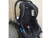 Silver cross Pram, car seat, pushchair, carry cot all in one