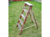"""(#528) vintage wooden ladder 42"""" (Pick up only, Dy4 area)"""