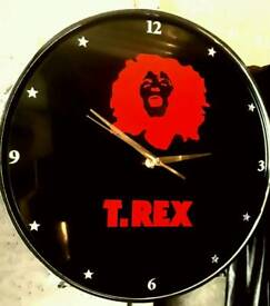 Upcycled Marc bolan &T.Rex drum clock