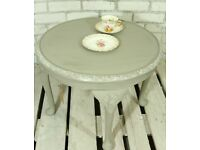 Ornate shabby chic vintage Queen Anne table