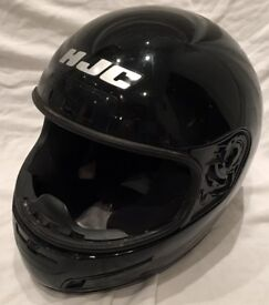 FULL FACE MOTORCYCLE HELMET BLACK VGC
