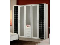 2,3,4,or 5 door or sliding with mirror wardrobe and fixing available