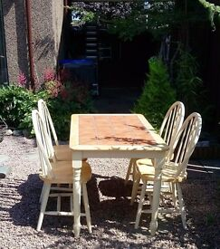 Farmhouse style kitchen table and chairs