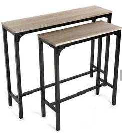 2 Piece Console Table Set