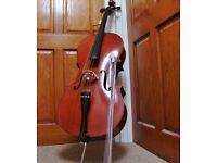 THREE QUARTER SIZE 3/4 STUDENT CELLO. Boosey & Hawkes ARTIA. Complete with NEW bow and new Rosin