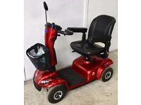 Medium size pavement mobility scooter - Red Invacare Leo
