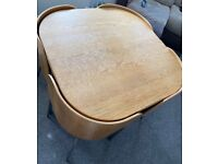 *COLLECTION ONLY* Brown ikea space saving dining table with 4 chairs
