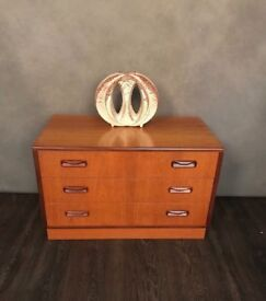 Teak mid century Gplan chest of drawers