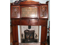 ART NOUVEAU/ART DECO FIREPLACE SURROUND. NEEDS WORK BUT COULD BE STUNNING