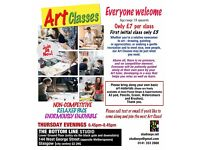 Art Classes - Weekly in Glasgow city centre