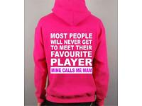 Ladies My Favourite Player Hoodie .......Extra Large