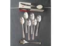 Set of 6 Silver Plated Tea Spoons and 6 Sliver Plated Cake Forks