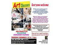 Art Classes: Thursday evenings - For the beginner or enthusiast