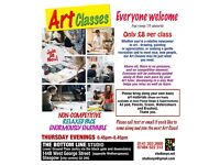 Art Classes: For beginners and enthusiasts