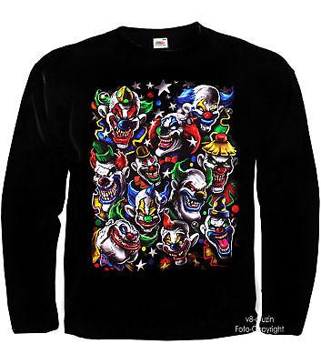 * Clown Zirkus Joker Varietè Kostüm Laughing Clowns - Herren Joker Kostüme Tshirt