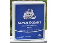Seven Oceans SOS Emergency Food Ration Biscuits - Cadet Camping Survival Kit