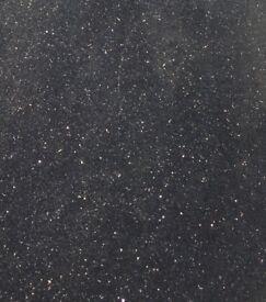 Kitchen Granite Worktop (Black Star Galaxy design) - 4 PIECES