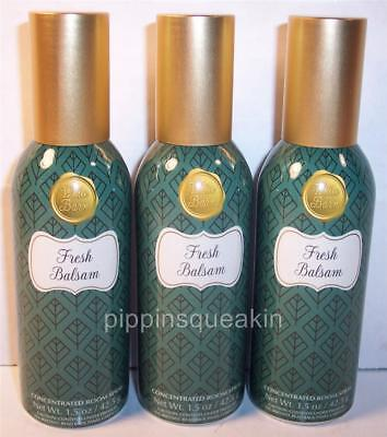 3 sprays Bath & Body Works Home Room Spray Freshener Fresh Balsam
