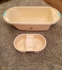 Baby bath with top & tail bowl