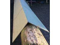Green coated profile sheeting verge