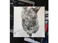 Portrait Artist - Pet Portrait - Family Portrait